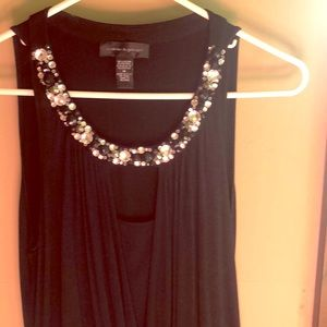 Stretchy black tank with sparkle!